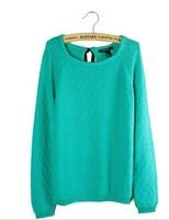 wholesale New autumn-summer 100% cotton slim pullover o-neck long-sleeve sweater women women's sweater fall 2013 cardigan women