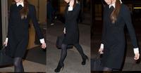 free shipping wholesale Women Slim Fit Peter Pan Collar Lapel Black White Stitching Long Sleeve Dress S M L  WC621