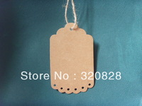 Wholesale 5.5*9cm Scrapbook baking label DIY Kraft Paper tags label Gift packing Tags(no string)Retro decoration Hang tag 300pcs