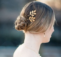 ( Mini Mix Order > $10) Charms 2014 New Women Metal Gold Plated Delicate Sweet  Brief Style Hairpins Bride Hair Jewelry HW030