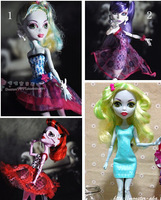 Free Shipping 4pcs/lot Genuine Monster High Clothing Dress 4-styles Clothes For Original Monster High Dolls