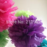 Free Shipping 75pcs mixed (10CM,15CM,25CM) Tissue Paper Pom Poms Wedding/Party/Birthday/Baby shower/Nursery  decoration