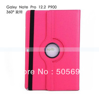 360 Degree Rotation Stand PU Leather Case for Samsung Galaxy Note Pro 12.2 SM-P900 by DHL 100pcs/Lot