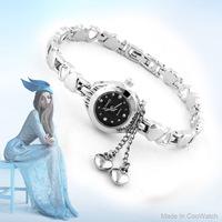 Luxury KIMIO Brand Watch Ceramic Ladies Quartz Watches Crystal Hours Women Dress watches Heart Pendant Casual watch Hot Sale