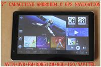 "FREE DROPSHIPPING 7""  CAPACITIVE GPS NAVIGATOR /NAVIGATION+TALPET PC ANDROID+AVIN+DVR+FM+WIFI+GO NAVITLE+512M+1.2GHZ+8GB"