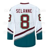 #8  SELANNE Mighty Ducks of Anaheim Ice Hockey Jerseys hockey