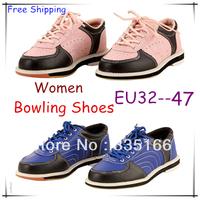 HOT Selling Women/Girls Bowling Shoes Pink/Blue Colors EU32--47,   Beautiful Professional Sports Shoe  #JM06792--Free Shipping