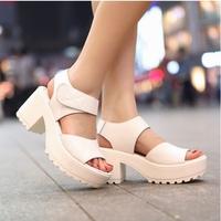 Free Shipping 2015 Women Shoes Women Sandals In Summer  Platform Shoes Thick High Heel Sandals Open Toe Platform Women Pumps