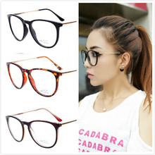 2014 New Reading Glasses Brand Designer Women Men Black Adornment Writing Spectacles Frame Glasses PC Lens No Degree 8190
