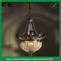 Modern Luminire Brief Single Head European Style Classical Home Decor Iron Crystal Lustre Chandelier Light Fixture