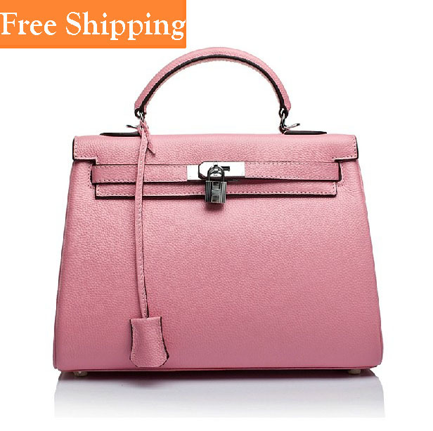 2014 Handbags Genuine Leather Tote First Layer Of Cowhide Hot Celebrity Shoulder Bags Woman Handbags H Brand Bag High Quality(China (Mainland))
