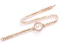 Hot Womens Fashion Original High Quality Quartz dress Wrist Watches pearl Rhinestone bracelet Strap Watch Fast Delivery #751f