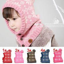 2014 New Snowflake Children's Winter Hats Girls Fashion Cute Hat Boy Warm Children Accessories For Boy New Year Gift Cap H36(China (Mainland))