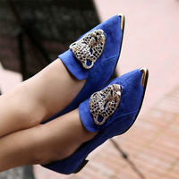 2014 Mushrooms Street Leopard Head Candy-Colored Shoes New Single Shoes Japanese Wind Pointed Flat Heel Women Shoes DGPD2003