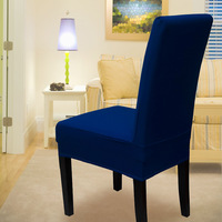 2014 Cotton yarn card chair cover dining chair cover dark blue chair cover sl01