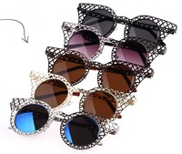 Женские солнцезащитные очки new round Sunglasses Women Brand Designer Fashion women sunglasses