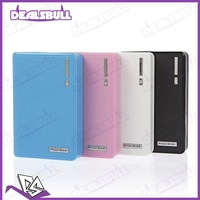 20Pcs/Lot 12000MAH Wallet Portable Dual USB Power Bank External Battery Charger for iPhone iPad HTC Samsung Nokia Mobile Phone
