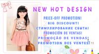 2014 New Girl's Summer Floral pink dresses
