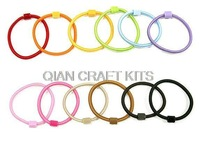 bulk 100pcs assorted Girl Kids Adult sturdy Hair Bands Elastic Ties Ponytail Holder elastic ring with glue on pads
