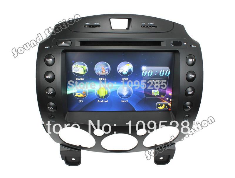 Mazda 2 Demio Concepts Automotivo In Dash Car DVD Player Auto Stereo Radio GPS Navigation Autoradio Central Multimedia Head Unit(China (Mainland))