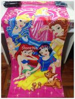 Fairy Gorgeous Princess Towel Snow white/Belle/Cinderella Cartoon Beach Bath Towel Cotton Bathroom Towels Printed Towels 70*140