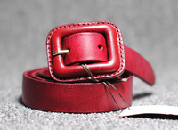 fashion buckle on the word hypoallergenic Ms. pure leather belt girdle classic casual belts
