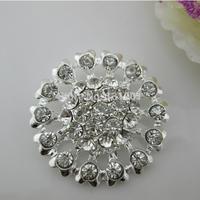 (FL155) 20pcs Large Metal Clear Crystal Rhinestone Button Shank For Wedding Invitation Card