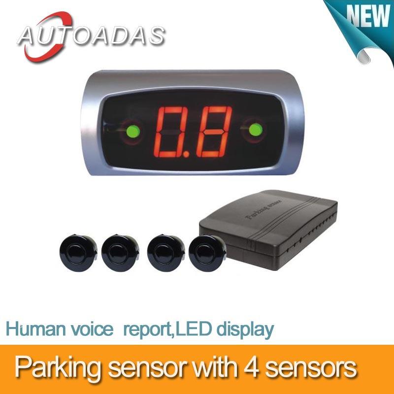 freeshipping car parking sensors with 4 sensors,LED display,buzzer alarm,parking,car detector,car camera,parking sensor(China (Mainland))
