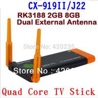 CX919 Mini pc Android 4.2 RK3188 Quad Core 2G RAM 8G ROM Built-in Bluetooth Dual External Antenna TV dongle ( J22 ) CX-919 II