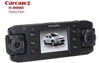 DVR camera X8000 Car dvr 2.0 inch Dual cam tachograph External GPS