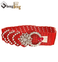 2014 New design Women's Belts Cummerbund Rhinestone waist  Elastic Belt Crystal Belt  N34 Ladies'  girdle Cintos Cinturon