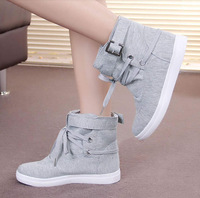 2014 New summer high sneakers canvas shoes female sneaker boots casual shoes flats women