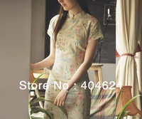 Wholesale Classic Chinese Women Cheongsams Qipao Sexy Dress Cotton and Linen By Madehand Genuine,8Different Styles With 5 Sizes!