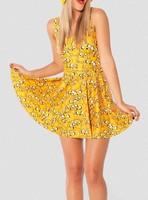 Best Quality 2014 new Women Cartoon Adventure Time Tops Jake Scoop Skater Dress pleated sleeveless summer dress