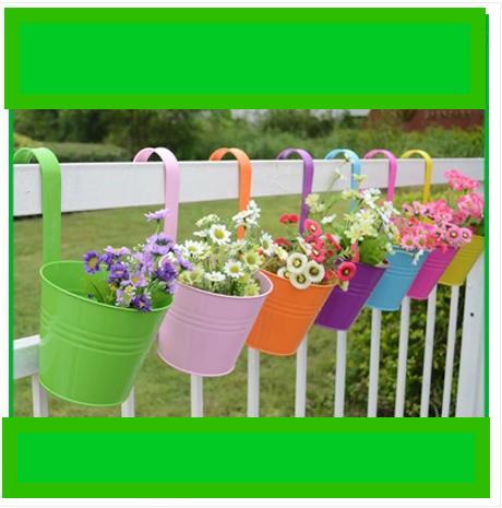 Metal Flowerpot Iron Flower Pots Planters Outdoor