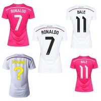 2014 2015 Real Madrid Women Jerseys top quality female shirts customize name number