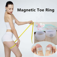 2pcs Keep Slimming Silicone Fitness Magnetic Toe Ring Weight Lossing Health Care Foot Massage Free shipping