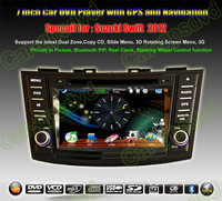 Suzuki Swift 2012 GPS Navigation DVD Player ,Multimedia Video Player system+Free GPS map+Free camera+ Free shipping