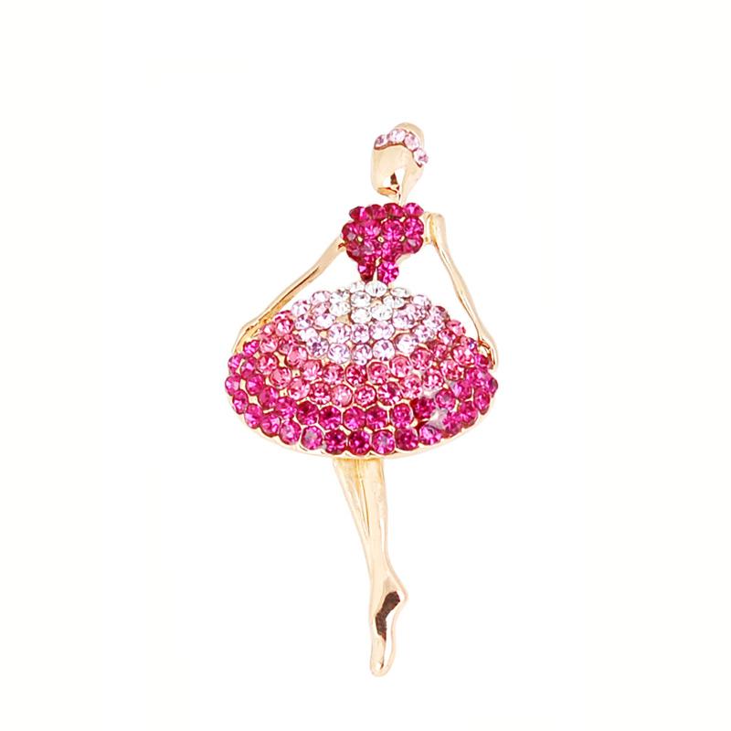 versandkostenfrei modeschmuck schöne mädchen ballett voller strass pin brosche
