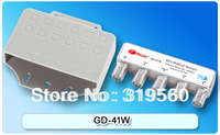 free shipping GD-41W 4 x 1 Satellite DiSEqC Switch with water proof  4 in 1 diseqc switch