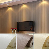 Modern Brief Striped Wallpaper Filament Solid Coffee Non-woven Wall Paper Roll for Bedroom Vintage papel de parede Free Shipping