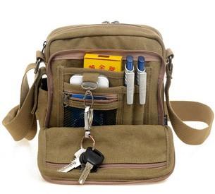 Brand 2014 Men canvas messenger bag multifunctional one shoulder cross body bag canvas saddle bag shoulder bag +drop shipping(China (Mainland))