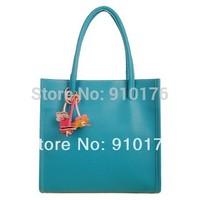 2014 hot quality guarantee women's PU leather handbag fashion shoulder bag zipper totes small flower bag FREE SHIPPING