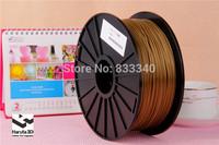 Factory sales! 6 spools 3D printer Filament PLA 3.0mm metalic color FEDEX Free Shipping