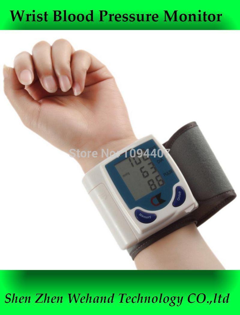 Portable Household Blood Pressure Monitor Heart Beat Meter Sphygmomanometer digital wrist tonometer(China (Mainland))