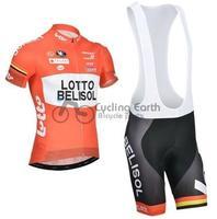 2014 NEW! LOTTO short sleeve cycling jersey bib shorts set bike bicycle wear clothes jersey pants,Free shipping!