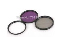 5pcs/lot Camera Lens Adapter Filter 58mm UV FLD CPLwith carry BAG for D90 D7000 650D 600D 550D 1100D