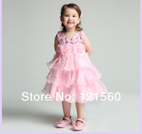 Free shipping   New arrive 2014 High quality  pageant dresses for girls glitz  girl dress princess 2-12  age
