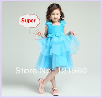 Free shipping   New arrive 2014 High quality  little girls pageant dresses    girl dress  princess 2-12  age