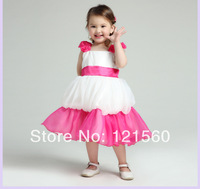 Free shipping   New arrive 2014 high quality  kids prom dresses  first communion gowns 2-10  age